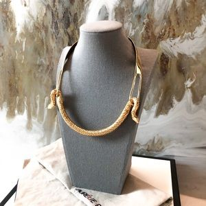 Aurélie Bidermann Gold Tao Snake Serpent Necklace
